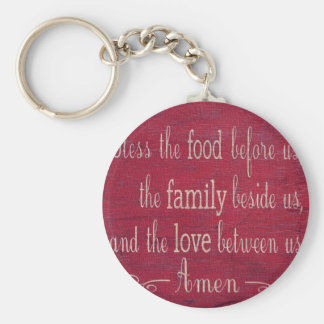 Food Blessing Basic Round Button Key Ring