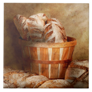 Food - Bread - Your daily bread Large Square Tile