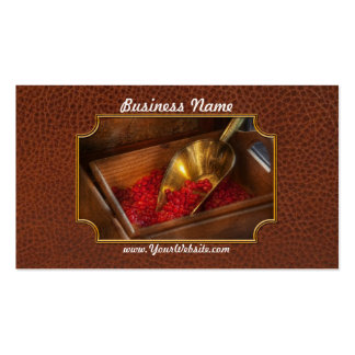 Food - Candy - Hot cinnamon candies Business Card Templates