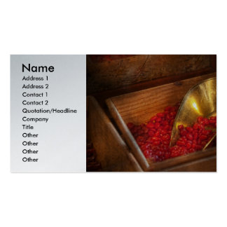 Food - Candy - Hot cinnamon candies Business Cards