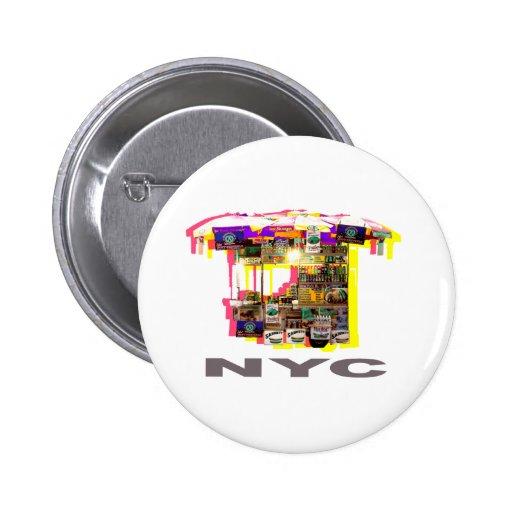 Food cart 6 cm round badge