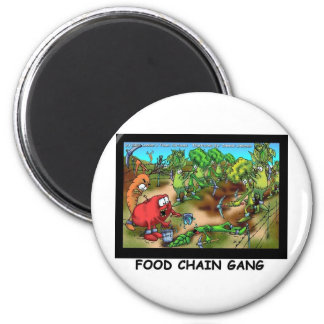 Food Chain Gang Funny Gifts Tees & Collectibles 6 Cm Round Magnet