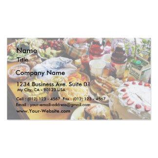 Food Cheese Cakes Fruit Juices Pack Of Standard Business Cards