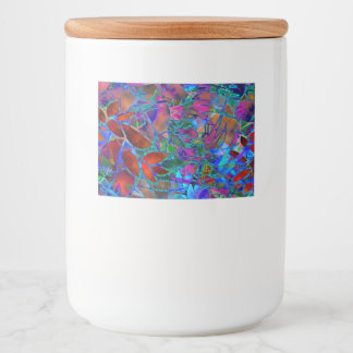 Food Container Label Floral Abstract Stained Glass