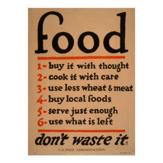 Food, Don't Waste It Vintage Poster