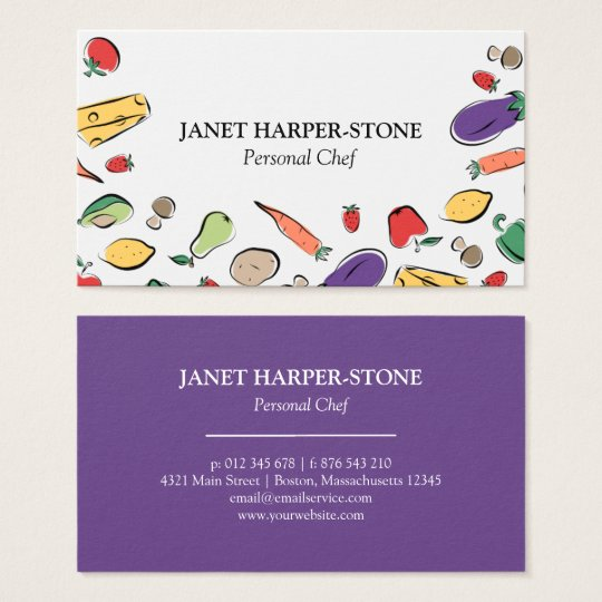 Food Doodles | Personal Chef Business Card