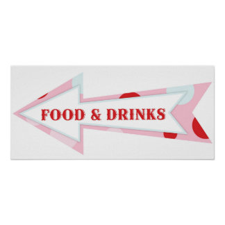 Food Drink Arrow Sign Carnival Circus Birthday LFT