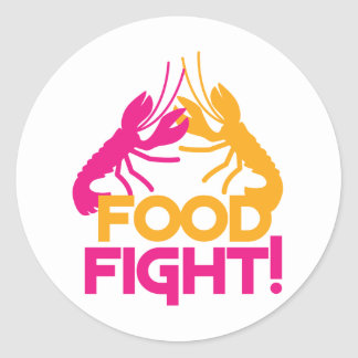 food fight! lobsters crayfish sticker
