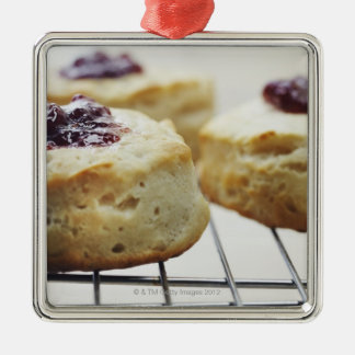 Food, Food And Drink, Buttermilk, Biscuit, Silver-Colored Square Decoration