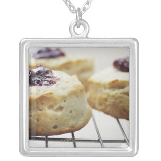 Food, Food And Drink, Buttermilk, Biscuit, Silver Plated Necklace