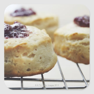 Food, Food And Drink, Buttermilk, Biscuit, Square Sticker