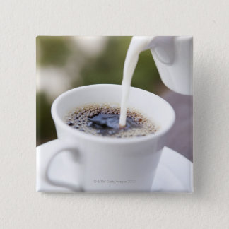 Food, Food And Drink, Coffee, Cream, Creamer, 15 Cm Square Badge