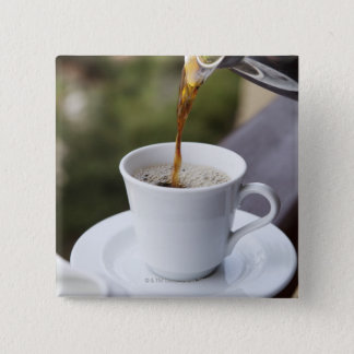 Food, Food And Drink, Coffee, Pour, Carafe, 15 Cm Square Badge