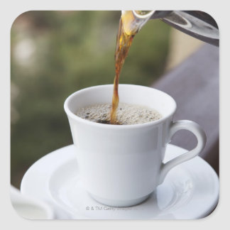 Food, Food And Drink, Coffee, Pour, Carafe, Square Sticker