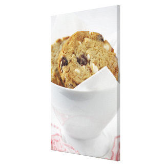 Food, Food And Drink, Cookie, Dessert, Cherry, Gallery Wrapped Canvas