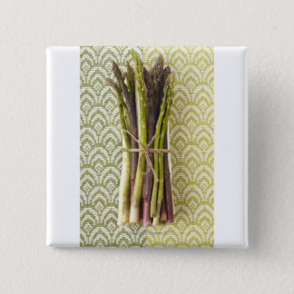 Food, Food And Drink, Vegetable, Asparagus, 15 Cm Square Badge