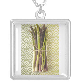 Food, Food And Drink, Vegetable, Asparagus, Silver Plated Necklace
