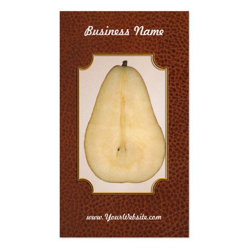 Food - Fruit - A slice of bosc pear Pack Of Standard Business Cards