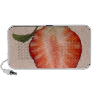 Food - Fruit - Slice of Strawberry Mini Speakers