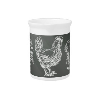 Food Groups Chalk Hand Drawn Animal Icons Pitcher