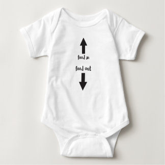 food in / food out baby bodysuit