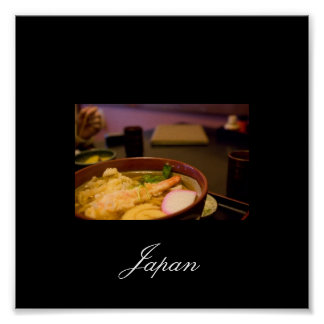 Food in Japan, Images from Japan Poster