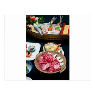 Food in Japan, Japanese Food Postcard