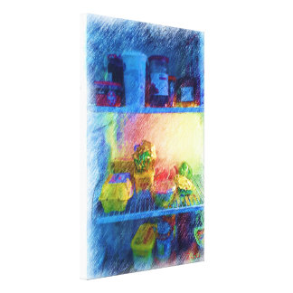 food in the  fridge canvas print