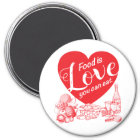 Food Is Love You Can Eat Magnet-Amore II Magnet
