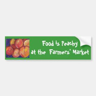 Food is Peachy at  Farmers' Market Bumper Sticker