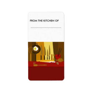 Food Jars Goodies Address Label