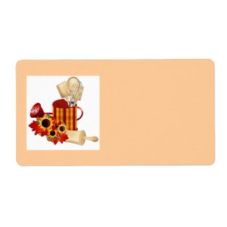food label....kitchen shipping label
