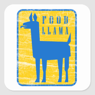 Food Llama Square Sticker