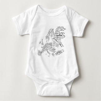 Food Map of Europe Baby Bodysuit