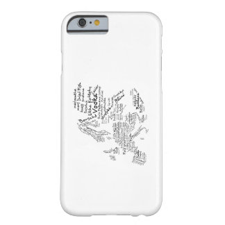 Food Map of Europe Barely There iPhone 6 Case