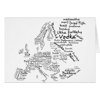 Food Map of Europe Card