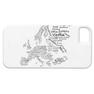 Food Map of Europe Case For The iPhone 5