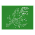 Food Map of Europe (Green) Poster
