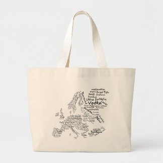 Food Map of Europe Large Tote Bag