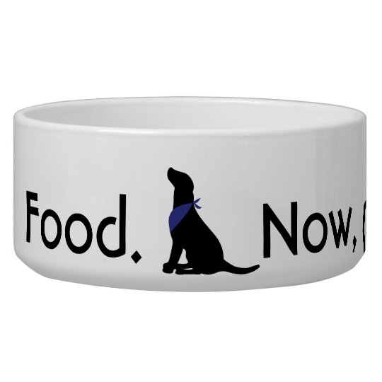 Food. Now, please. Dog Bowl