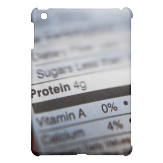 Food nutrition label iPad mini cases