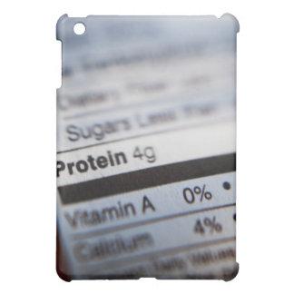 Food nutrition label iPad mini cover