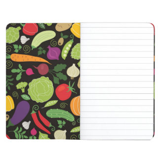 Food on a black background journal