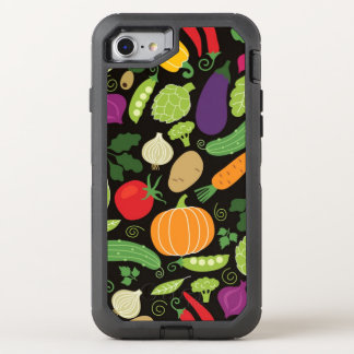 Food on a black background OtterBox defender iPhone 8/7 case