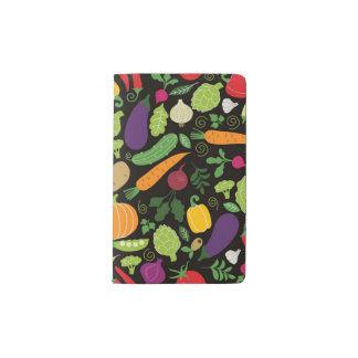 Food on a black background pocket moleskine notebook