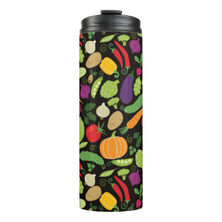 Food on a black background thermal tumbler