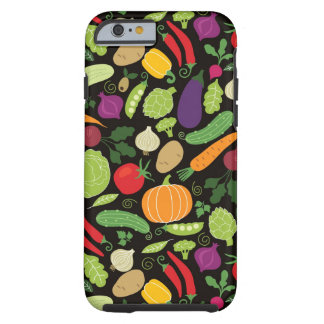 Food on a black background tough iPhone 6 case