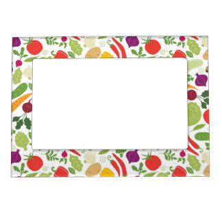 Food on a white background magnetic picture frames