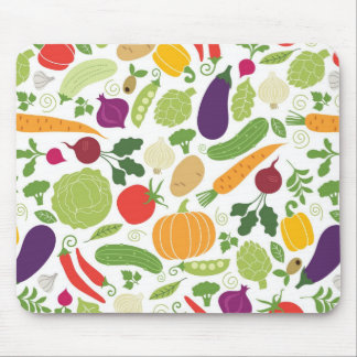 Food on a white background mouse mat