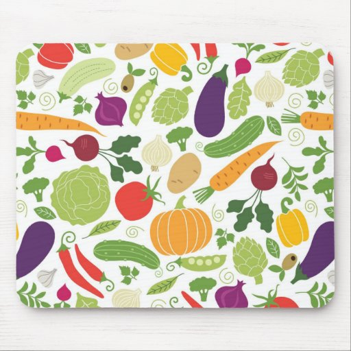 Food on a white background mousepads